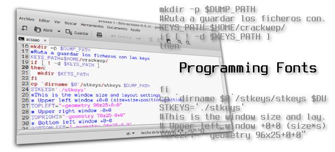 7 programming fonts ideales fuentes para programar download install linux instalar ubuntu