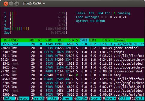 Terminal común en Ubuntu