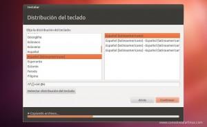 Como Instalar Ubuntu Seleciona distribución de teclado en español