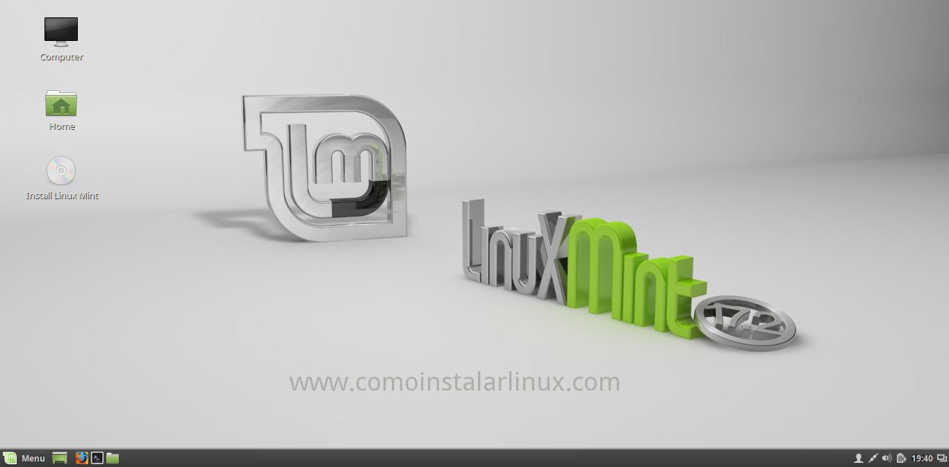 como instalar linux mint 17.2 rafaela iniciando la instalación install download