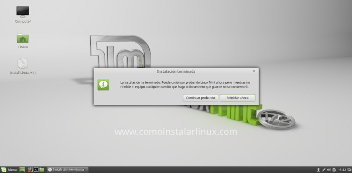 como instalar linux mint 17.2 reafaela instalación finalizada install download