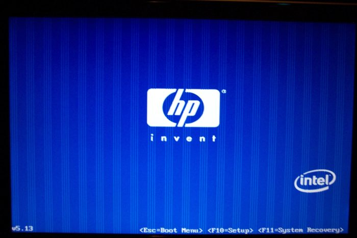 hp boot menu with ESC