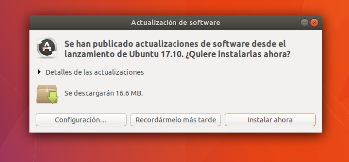 ubuntu 17.10 update software actualizaciones