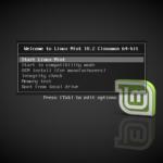 Instalación de Linux Mint 18.2 sonya pantalla de arranque de la instalacion