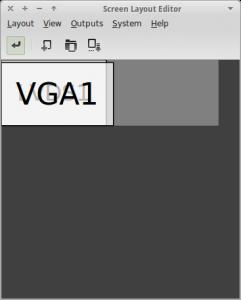 xface monitor extendido arandr configurar dos pantallas