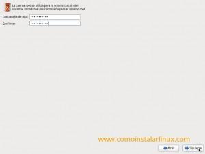 Como instalar Centos 6.4 - Contraseña de root