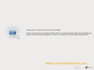 Como instalar Centos 6.4 - Reinicio del sistema