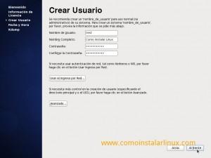 Como instalar Centos 6.4 - Crear usuario del sistema