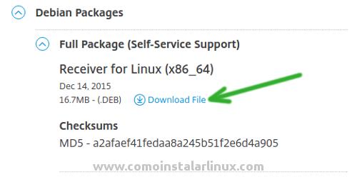 citrix ubuntu install ica client download linux