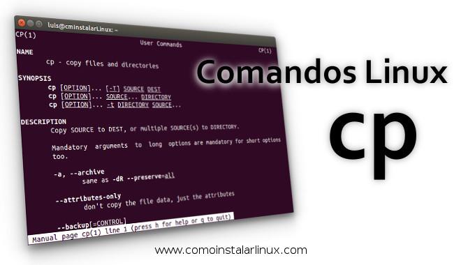 comandos linux cp recursive files directory archivos copiar directorios