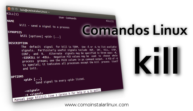 comandos linux kill command signal pid proccess proceso matar procesos