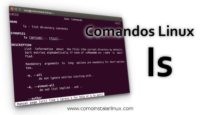 comandos linux comando ls command listar archivos -l archivos ocultos