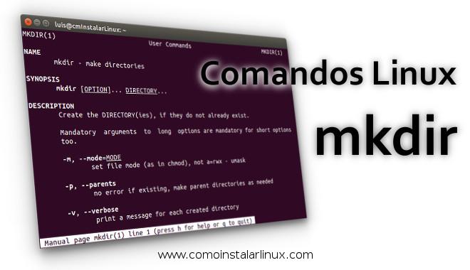 comandos linux mkdir linux command mkdir crear directorio directorios recursivos recursive