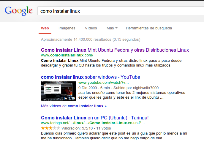 como ser el primer lugar en las búsquedas de google