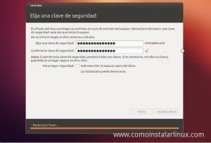 Como Instalar Ubuntu 12.10 contraseñas de cifrado de disco