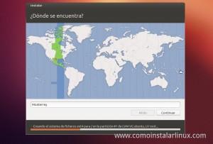 Como Instalar Ubuntu 12.10 seleccion de zona horaria