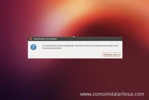 Como Instalar Ubuntu 12.10 finalizando la instalacion