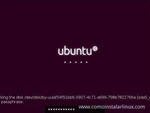 Como Instalar Ubuntu 12.10 contraseña ingresada de cifrado de disco