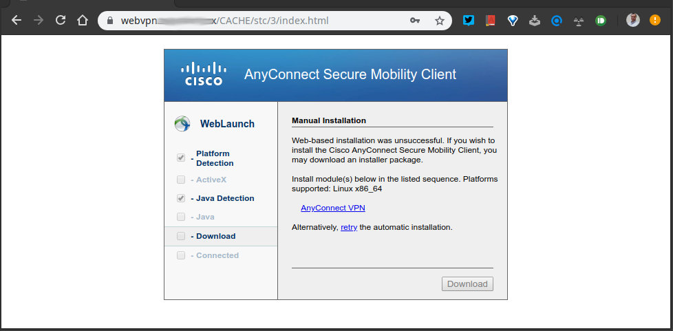 como instalar una VPN cisco anyconnect en linux mint y ubuntu 03