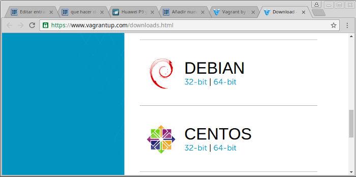 como instalar vagrant en Ubuntu y Linux Mint descargar 32 bis o 64 bits
