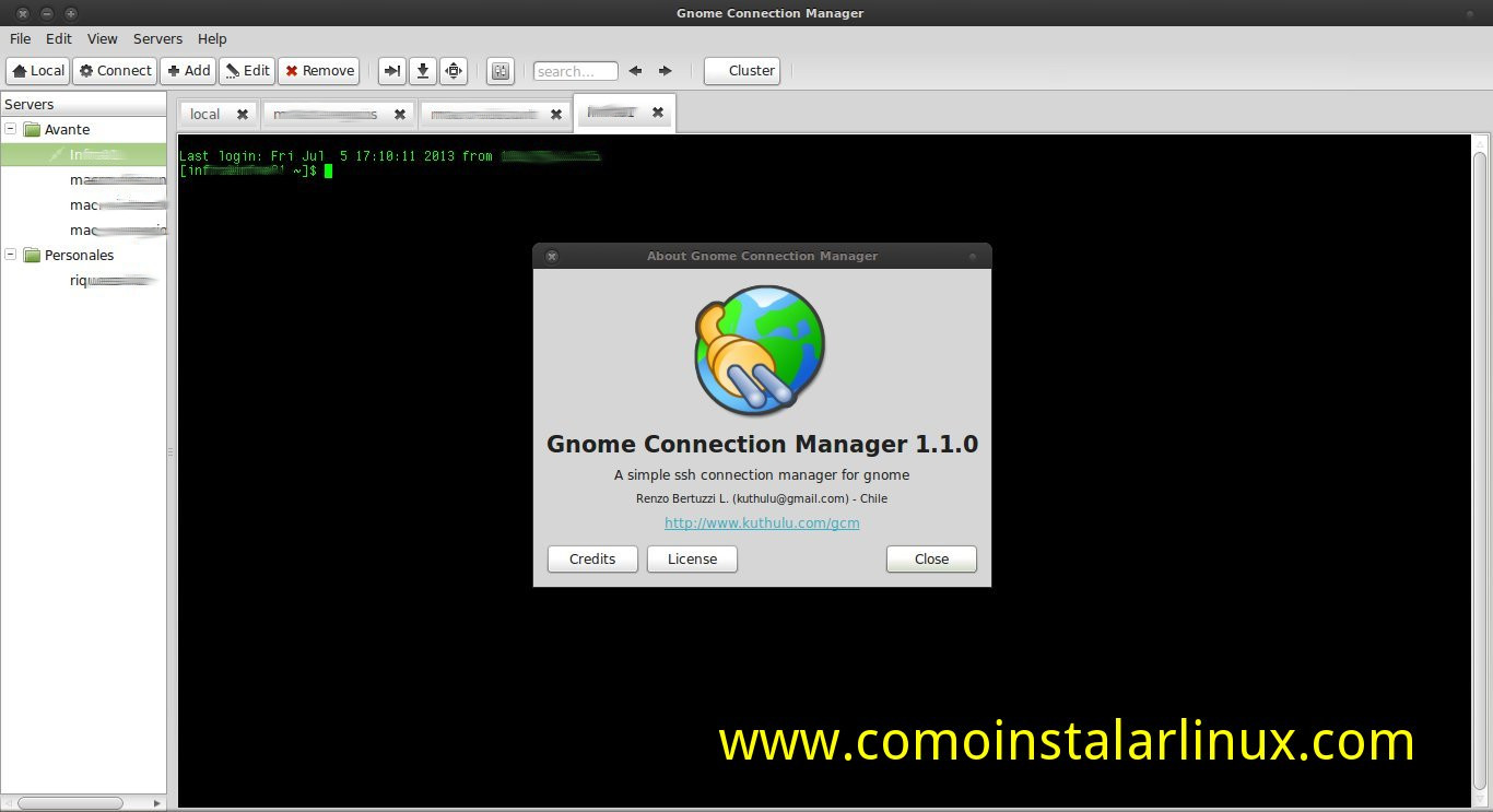 gnome connection manager