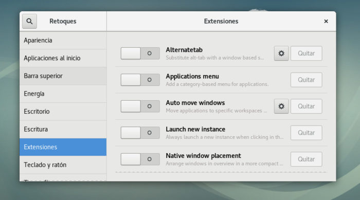 debian 9 gnome shell extensions setuo config install 01
