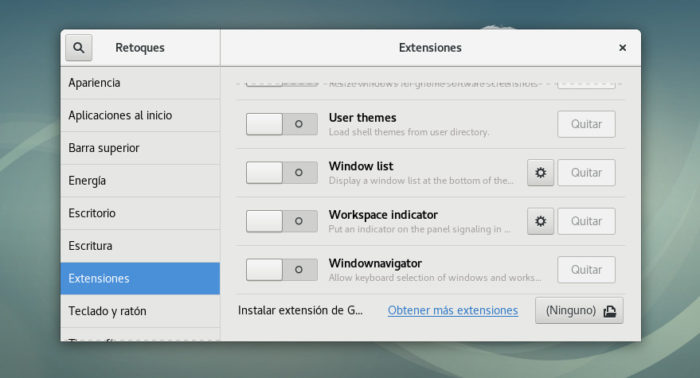 debian 9 gnome shell extensions setuo config install 02
