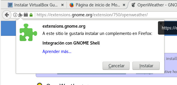 debian 9 install firefox gnome extensions control 02