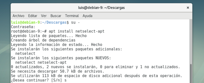 debian 9 install netselect apt para repositorio mas rapido