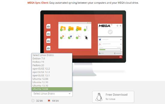 descargar mega sync para ubuntu linux mint