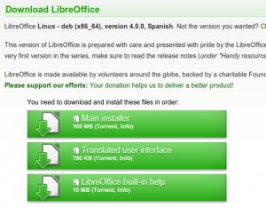 descargar LibreOffice 4.0 e instalar en Ubuntu