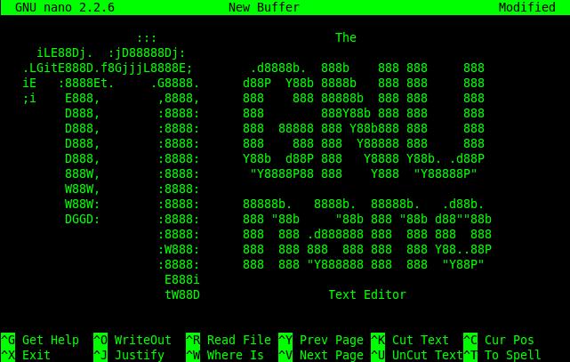 editor nano linux tutorial linux editor