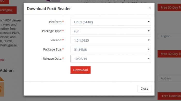 foxit reader linux install instalar