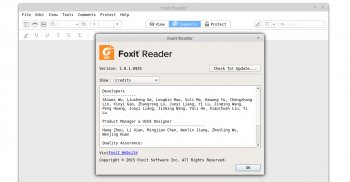 foxit reader running on linux