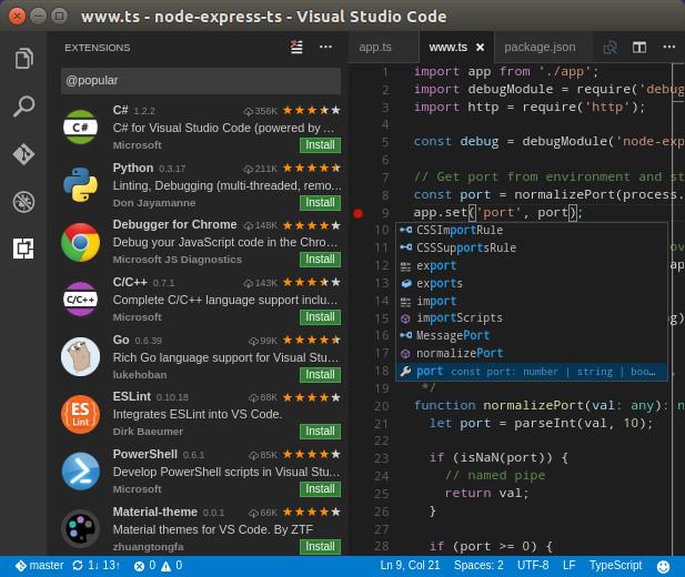 Visual studio code 1.4 con nuevas caracteristicas
