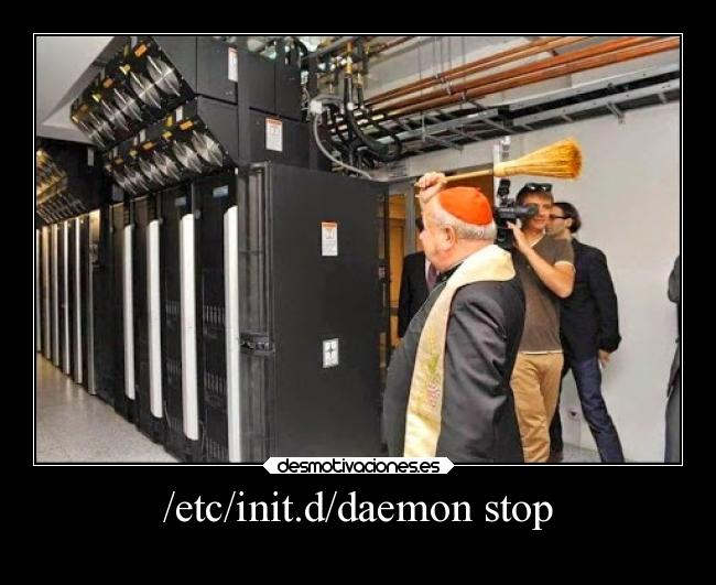 linux humor daemon stop how to jokes