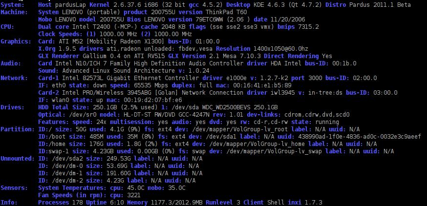 como saber mas del hardware de tu equipo en linux