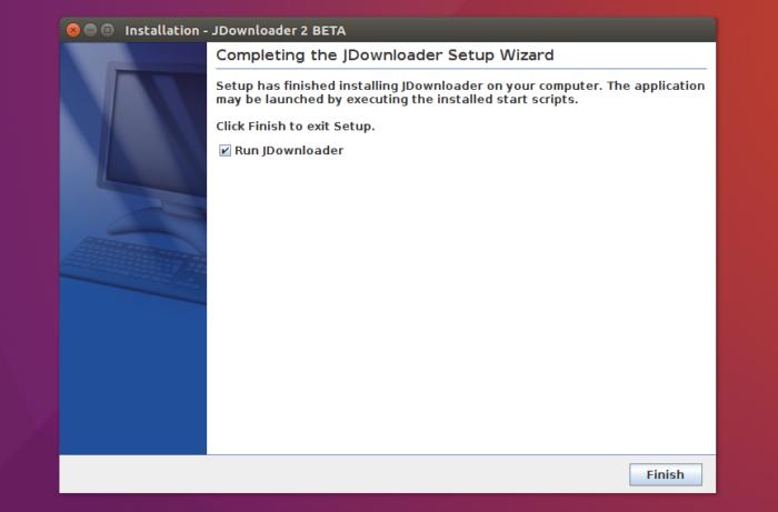 jdownloader 2 install finishing run app