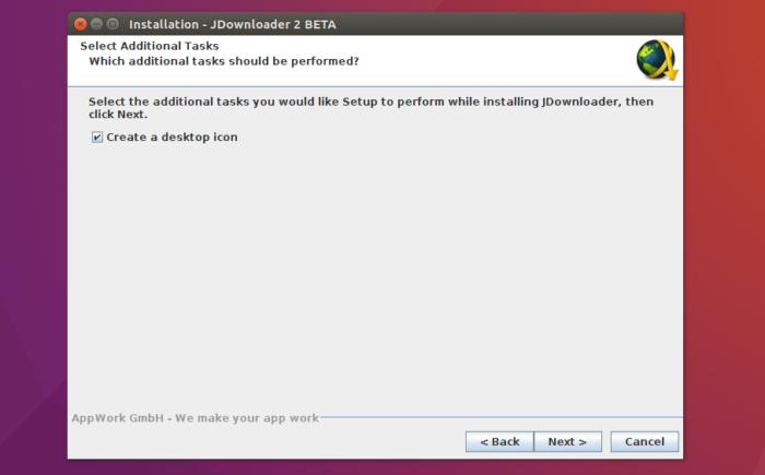 jdownloader install create icon