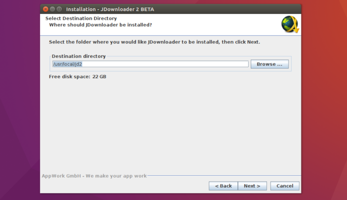 jdownloader2 install linux roure path files