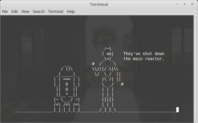 linux comandos terminal ver star wars en ascii