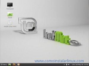 Escritorio de Linux Mint 13 Maya