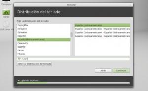 Instalar linux mint 13 Mint Tipo de teclado Latinoamericano