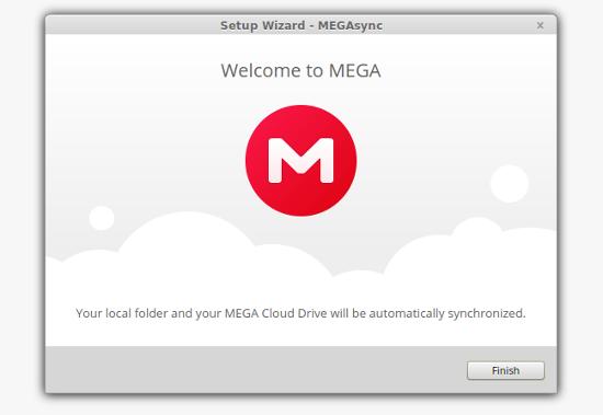 finalizar la configuración de megasync