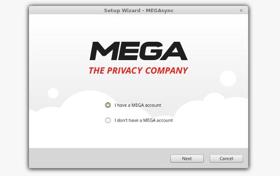 ejecutar y configurar megasync  en ubuntu linux mint