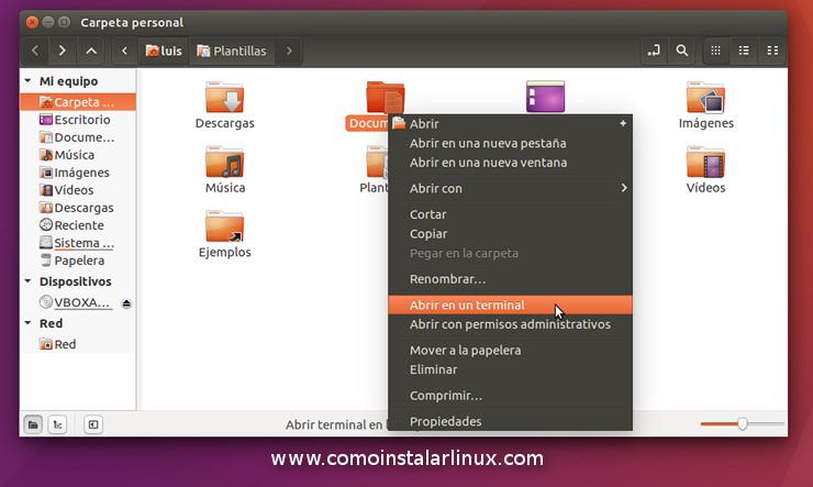 nemo 3.2.0 con muchas caracteristicas como abrir en la terminal