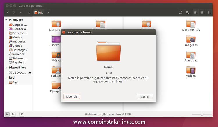 nemo 3.2.0 en ubuntu 16-04 como gestor de archivos en ubuntu