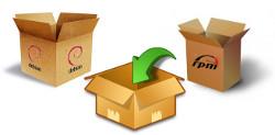Paquetes de software linux debian rpm