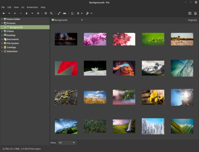 linux mint 18.2 sonya pix image viewer visor de imagenes linux mint