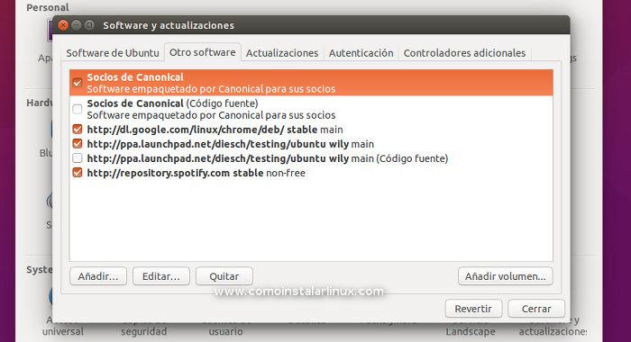 socios de canonical activar ubuntu 15.10 skype y otros